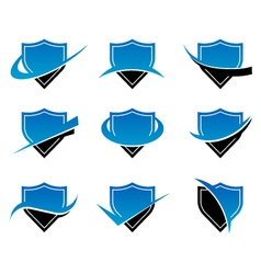 Shield logo icons vector
