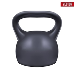 Black weight kettlebell vector