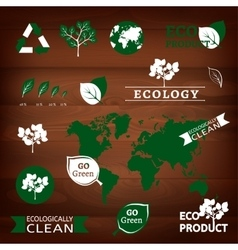 Logos and eco signs vector
