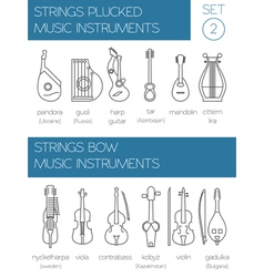 Musical instruments graphic template strings vector