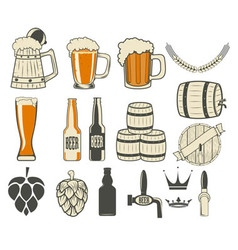 Beer label generator vector