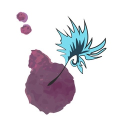 Watercolor feather vector