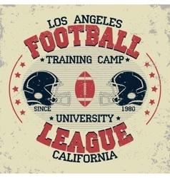 California football vintage t-shirt graphics vector