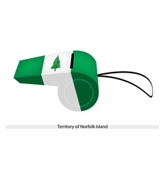 A whistle of territory of norfolk island vector