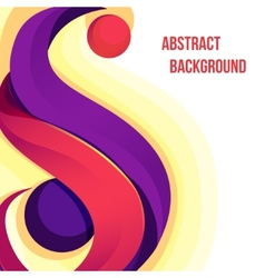 Abstract colorful vector image vector image