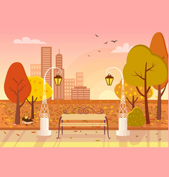 autumn city park vector image vector image