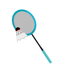 Badminton racket design vector