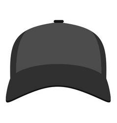 baseball hat in front icon flat style vector image
