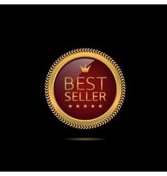 Best seller label vector image vector image