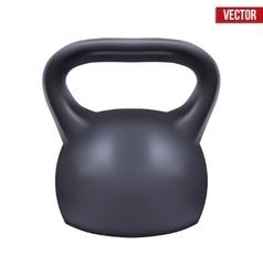 Black weight kettlebell vector image