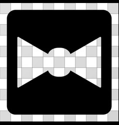 bow tie rounded square vector image