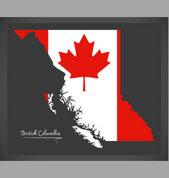 British columbia canada map vector