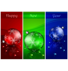 christmas red balls background 10 SS 3 v vector image vector image