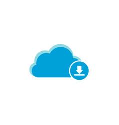 Cloud computing icon download icon vector