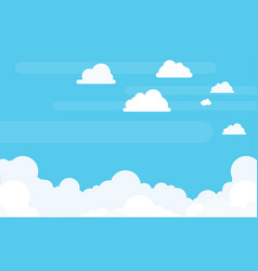 Clouds background with copyspace in flat vector