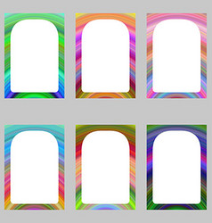 Colorful abstract digital art brochure frame set vector