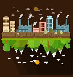 Different of environmentally landscape vector