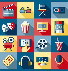 digital red blue cinema vector image