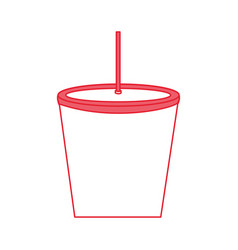 drink plastic with straw vector image vector image