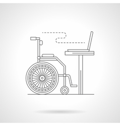 Education for disabilities detail line icon vector