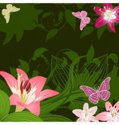flower fantasy vector image vector image