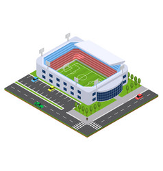 football arena isometric view vector image vector image
