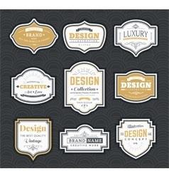 Frame vintage template vector