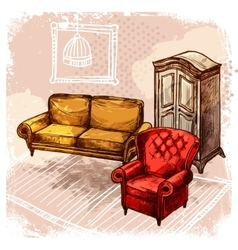 Furniture sketch vector