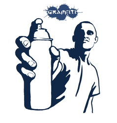 graffiti painting vector image