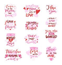 Love lovely calligraphy lovable lettering vector