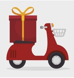 motorcycle transport gift icon vector image