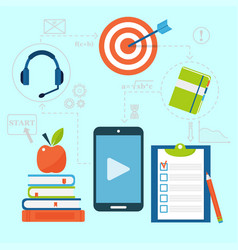 Online education staff training book store vector