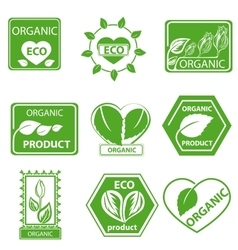 Organic products leaflet logo vector image