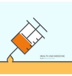 outline flat design of health and medical vector image
