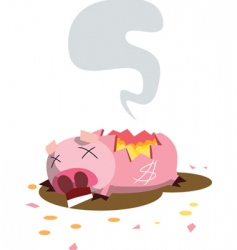 piggy death vector image vector image