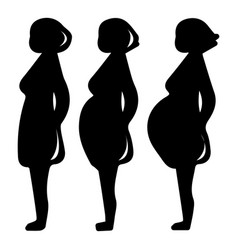 pregnancy stage icon simple black style vector image vector image