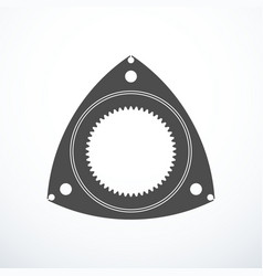 Rotor of rotary wankel engine vector