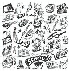 School - doodles vector image