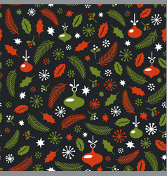 seamless christmas pattern wrapping paper design vector image