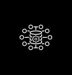 Small data icon flat design vector