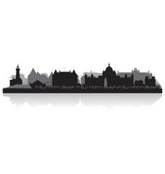 Victoria Canada city skyline silhouette vector image vector image