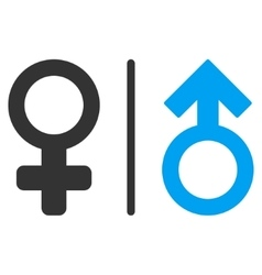 Wc gender symbols flat icon vector