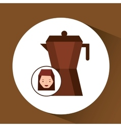 Woman cute maker coffee graphic vector