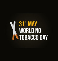 World no tobacco day style background vector