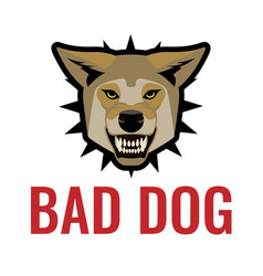Bad dog poster on white vector