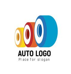 auto logo template logotype automobile vector image