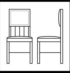 Chair home furniture lineart design interior vector