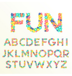 Colorful font and alphabet letters best for fun vector