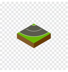 Isolated asphalt isometric road element vector