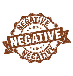 Negative stamp sign seal vector